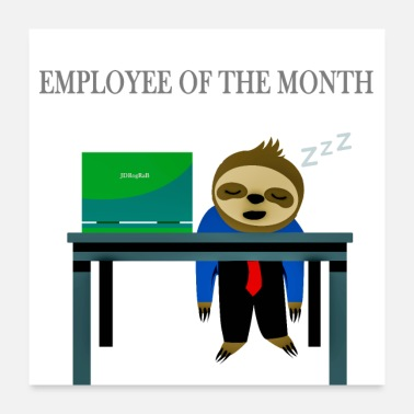 Official Person Employee of the Month - Poster