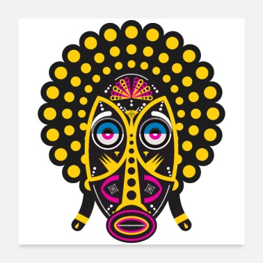 Pop Music afro pop mask - Poster