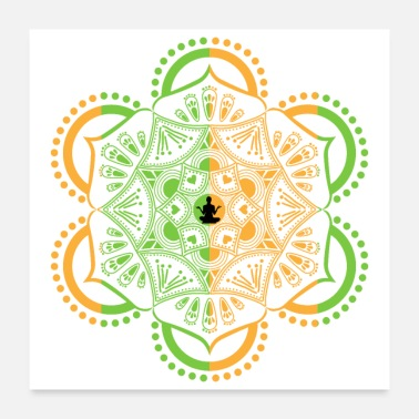 Yoga Idea Yoga Meditation Mandala - Gift Idea - Poster