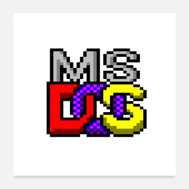 Pc Old stuff: MS-DOS  - Poster 24x24