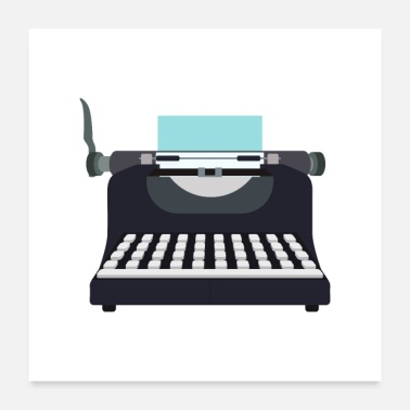 Writing Typewriter | Vintage Writing - Poster 24x24