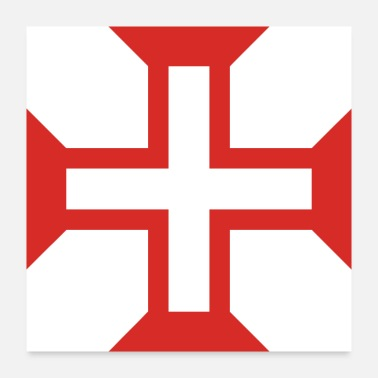 Portuguese Cross of the order of Christ - Poster
