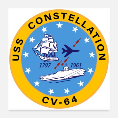 Insignia USS Constellation CV-64 Aircraft Carrier Insignia - Poster