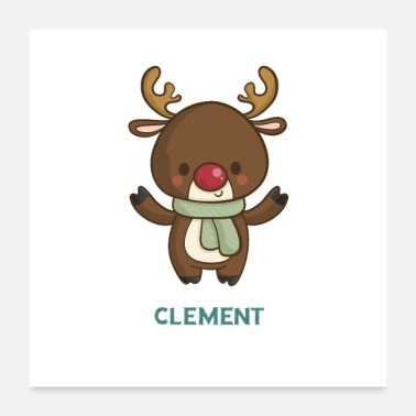 Characters CLEMENT Christmas character - Poster