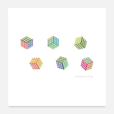 Cube Cubes - Poster