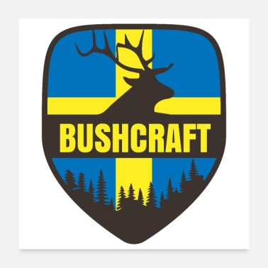 Sweden Bushcraft Sweden Moose Forest - Gift Idea - Poster