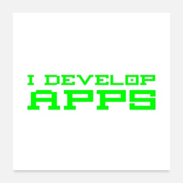Website What I Do Develop Apps Know Things Developer - Poster