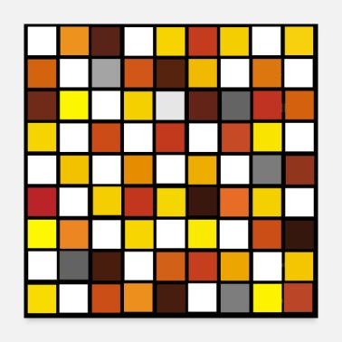 Chess Chess Board Pattern In Autum Colours - Poster