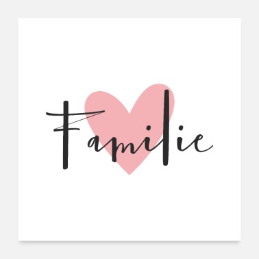 Wall Decoration Familie heart love symbol decoration gift - Poster