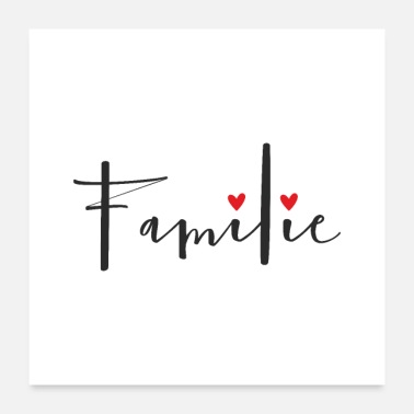 Wall Decoration Family heart love symbol decoration gift - Poster