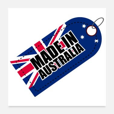 New Year Made in Australia Label - Gift Idea - Poster 24x24