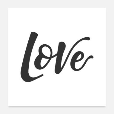 Nice Hand lettering Love - Poster 24x24