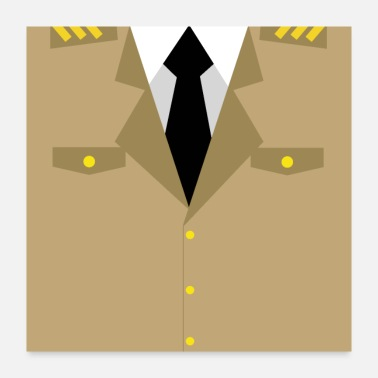 Brown Military Uniform Brown Uniform - idea gift - Poster