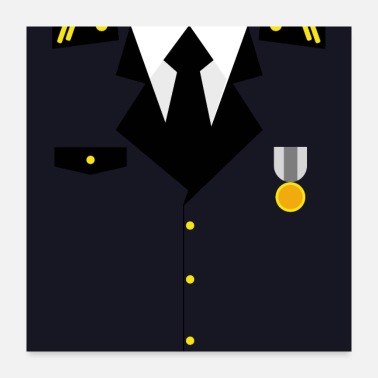 Insignia Dark blue Military Uniform Medal - idea gift - Poster