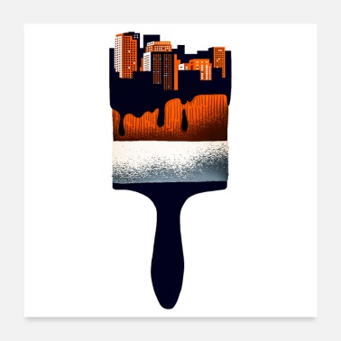 City paintbrush city - Poster 24x24