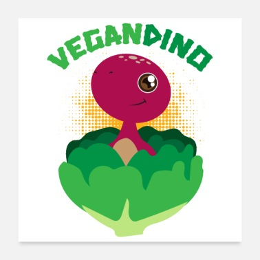 Fossil Cute looking vegan dinosaur gift idea - Poster