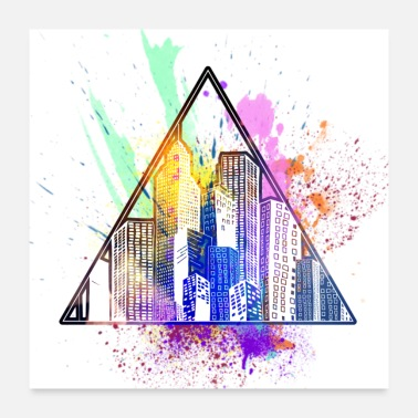 Triangle Triangle City - Poster 24x24