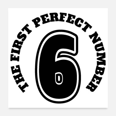 New Year Math Symbols 6 The First Perfect Number - Poster 24x24