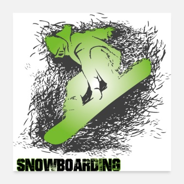 Snowboard snowboard - Poster