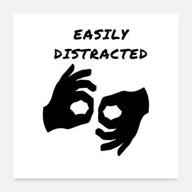 Finger Easily Distracted Circle Game - Poster 24x24
