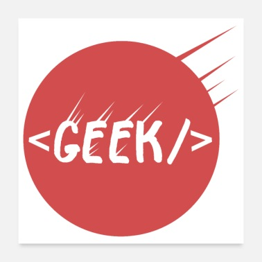 Html Geek - Geek Tag - Gift Idea - Poster
