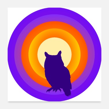 Motivational sunset owl - Poster 24x24