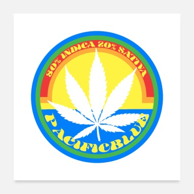 Indica Cannabis Indica-Pacific Blue strain - Poster
