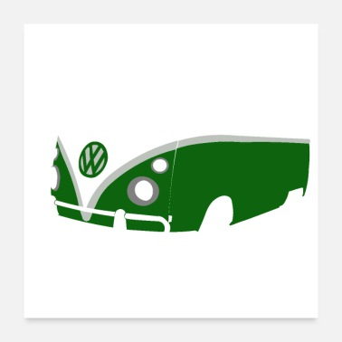 Hippie Bus The Green Bus - Poster