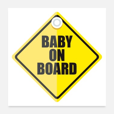 Baby Baby on Board - Poster 24x24
