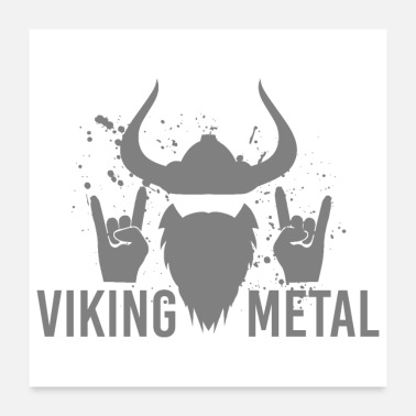 Metal Music Viking Metal - Gift Idea - Poster 24x24