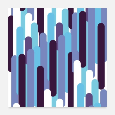 Stripes electric stripes - Poster