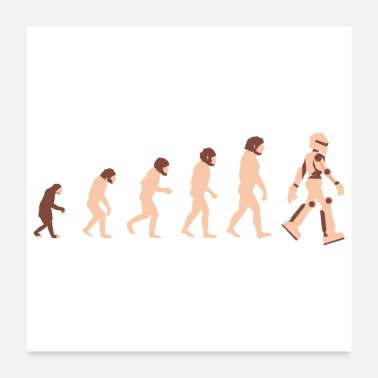 Technology Theory of Evolution Robot Future - Gift Idea - Poster