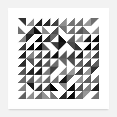 Triangle Rotated Triangles - Poster 24x24