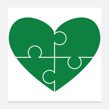 I Love Ireland Heart for St. Patrick's Day - Autism Awareness - Poster
