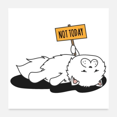 Mother Cat Not Today - Gift Idea - Poster 24x24