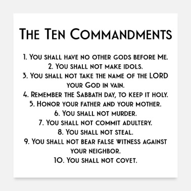 Protestant The Ten Commandments - Poster
