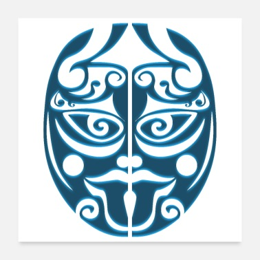 Tongue Maori Warrior Haka Sticking out the Tongue - Poster