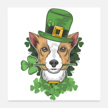 St Patricks Day St Patricks Day Dog, Gift For St Patricks Day - Poster