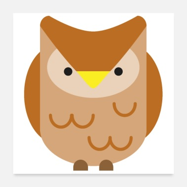 Zoo Cute Owl Design - Poster