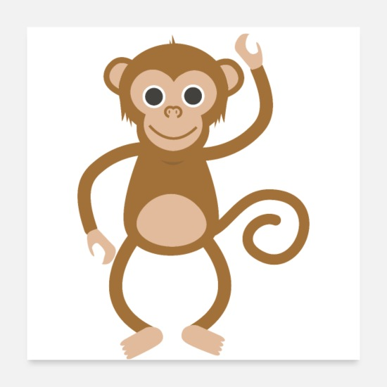 Birthday Posters - Cute monkey design - Perfect gift idea - Posters white