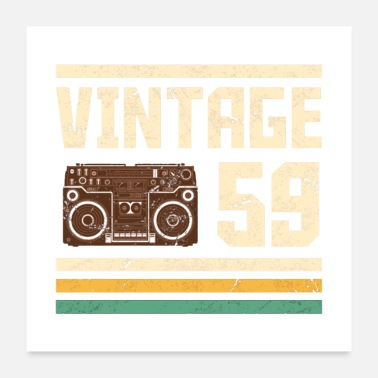 Vintage Vintage 1959 60th Birthday - Poster