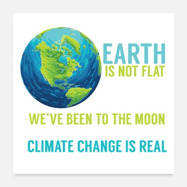 Climate Change Earth Vaccines Climate Political Quote Facts Gift - Poster