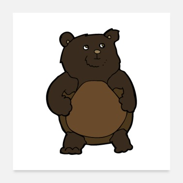 Teddy Bear bear, brown bear, teddy funny gift - Poster