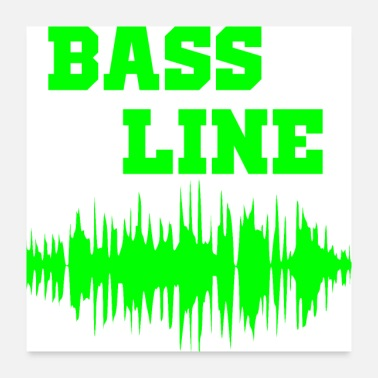 Bass Player bass line - Poster