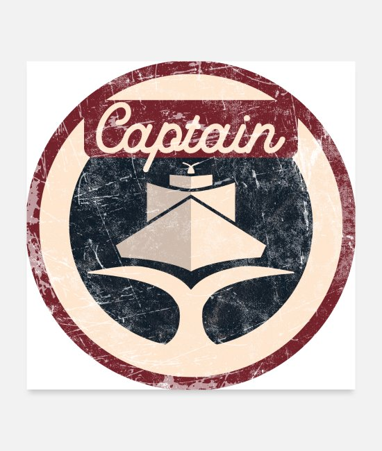 Vacation Posters - Captain Vintage - Posters white