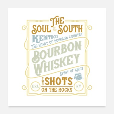 Whiskey Bourbon Whiskey - Poster