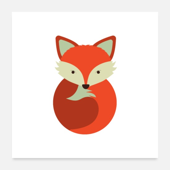 Children's Day Posters - Fox cute motive - Posters white