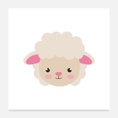 Cute sheep - Poster