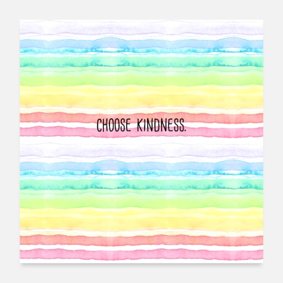 Motivational Posters - Choose Kindness (Pastel Watercolor Rainbow) - Posters white