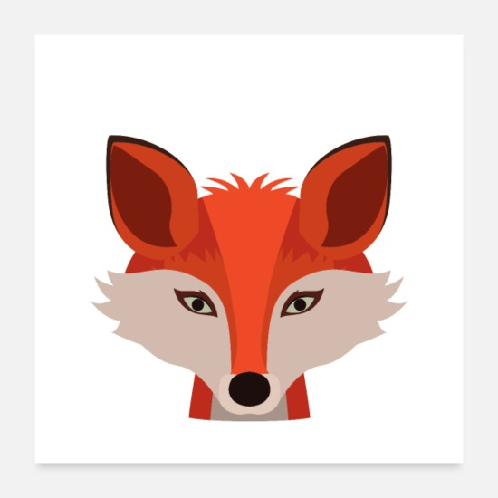 Animal Posters - The little fox - cute design - Posters white